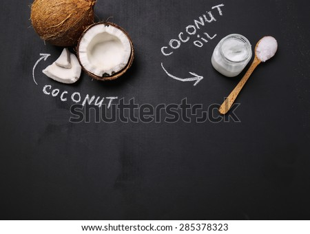 Drink. Coconut on the table - stock photo
