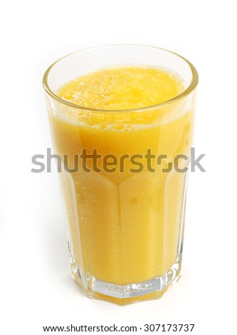 Drink. Delicious smoothie on the table - stock photo