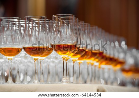 Drink series: glass of cognac - stock photo