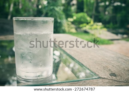Drink water - stock photo