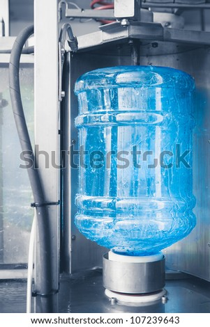 drink water production line - stock photo