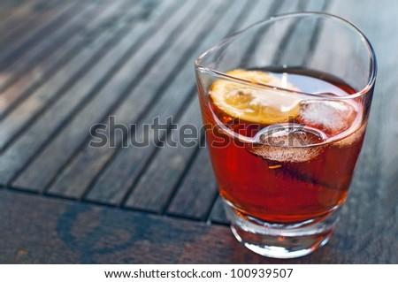 drink-whiskey-cocktail - stock photo