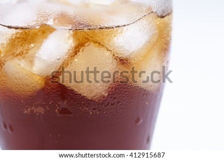 drink with ice - stock photo