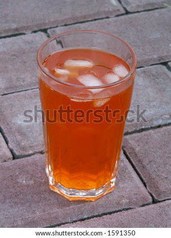 drink with ice cubes - stock photo