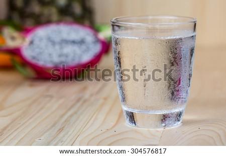 Drinking water - stock photo