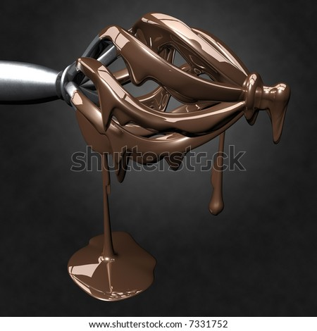 Dripping Milk Chocolate - stock photo