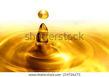 dripping oil close up - stock photo