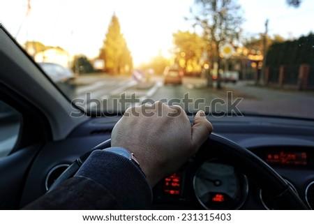 Drivers eyes - stock photo