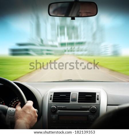driving car  - stock photo