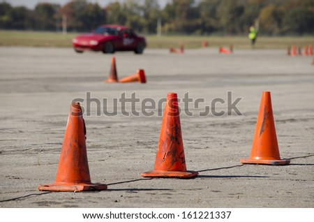 Driving Course - stock photo
