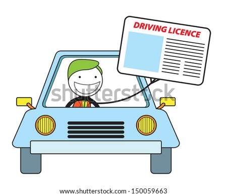 driving licence - stock photo