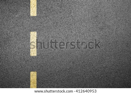 Driving road with separation line - stock photo