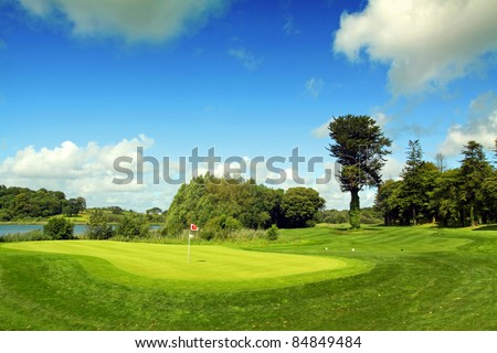 Dromoland Golf Course County Clare Ireland - stock photo