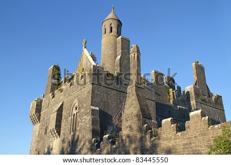 Dromore Castle in west Ireland - stock photo