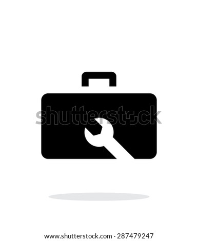 Drone repair kit box simple icon on white background. - stock photo
