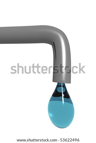 Drop from tap - stock photo