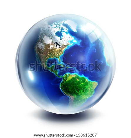 drop Images NASA - focus on America  - stock photo