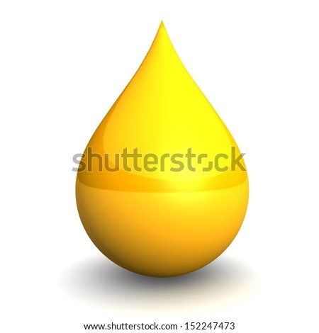 Drop of Oil isolated on white background. 3d illustration. - stock photo