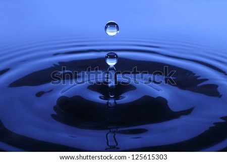 Drop of water backround - stock photo
