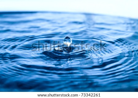Drop of water,smooth and cool feeling - stock photo