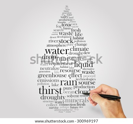 drop of water words concept - stock photo