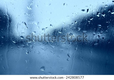 drop water over the car glass - stock photo