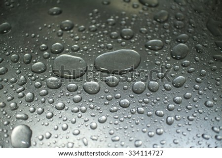 droplets on the sink - stock photo