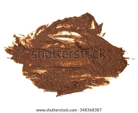 drops of mud sprayed isolated on white background, with clipping path - stock photo