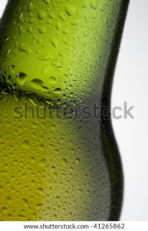Drops on a beer bottle - stock photo
