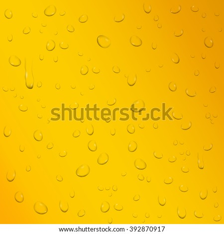 Drops on beer background.  illustration. Raster version - stock photo