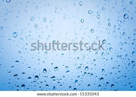 drops on slekle after rain - stock photo