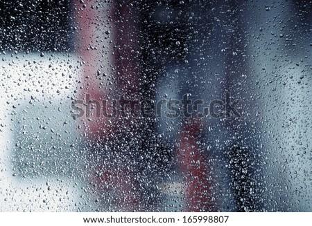 Drops on window - stock photo