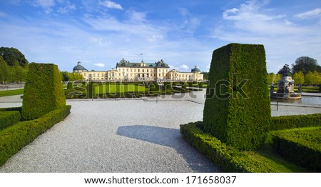 Drottningholm castle - stock photo
