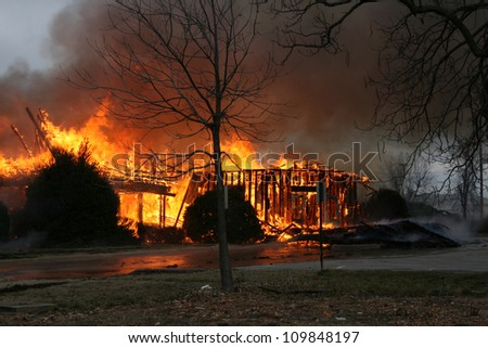 Drought conditions have been contributing factors to many house fires. - stock photo