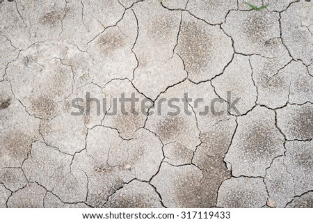 Drought cracked land, clay texture. - stock photo