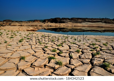 drought land so long waterless - stock photo