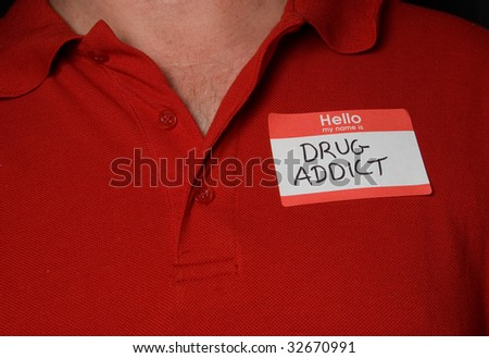 Drug Addict - stock photo