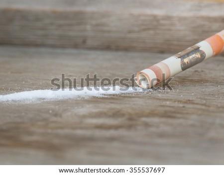 drug concept, cocaine - stock photo