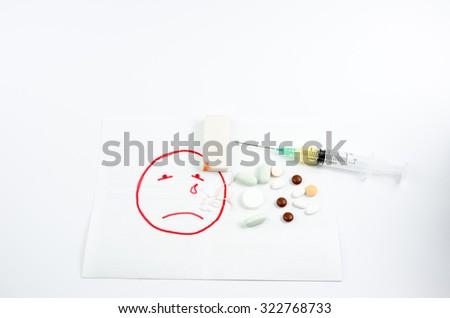 drug withdrawal - stock photo