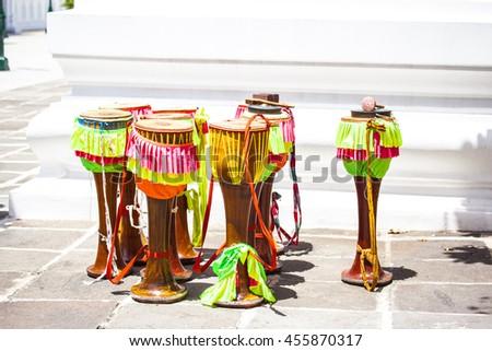 Drum instrument Thailand - stock photo