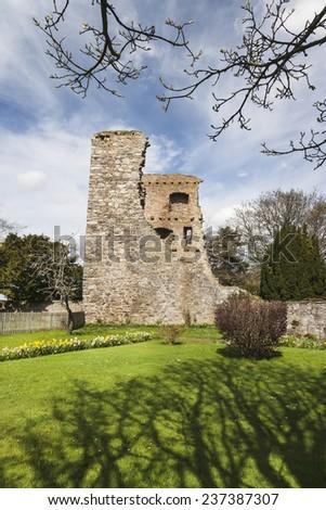 Drumin Castle near Glenlivet in Scotland - stock photo
