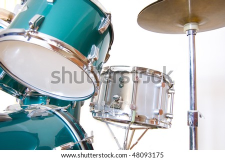 Drums conceptual image. Drums on isolated background. - stock photo