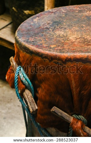 Drums native tribes - stock photo