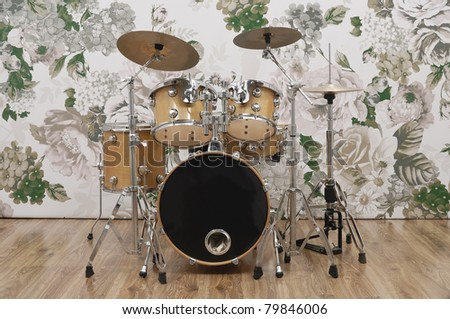 Drums on the stage - stock photo