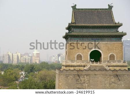 drumtower beijing china - stock photo