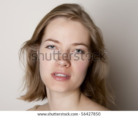 Drunk young woman - stock photo