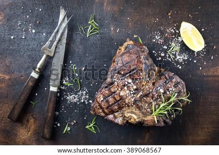 Dry Aged Barbecue Bistecca alla Fiorentina - stock photo