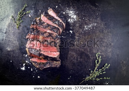 Dry Aged Barbecue Entrecote Double - stock photo