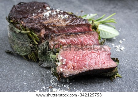 Dry Aged Barbecue Entrecote Steak - stock photo