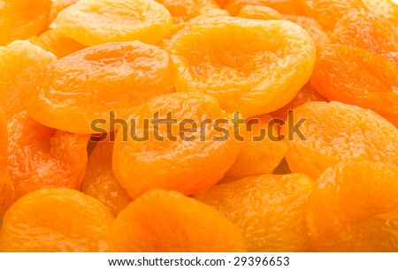 Dry apricots full frame - stock photo